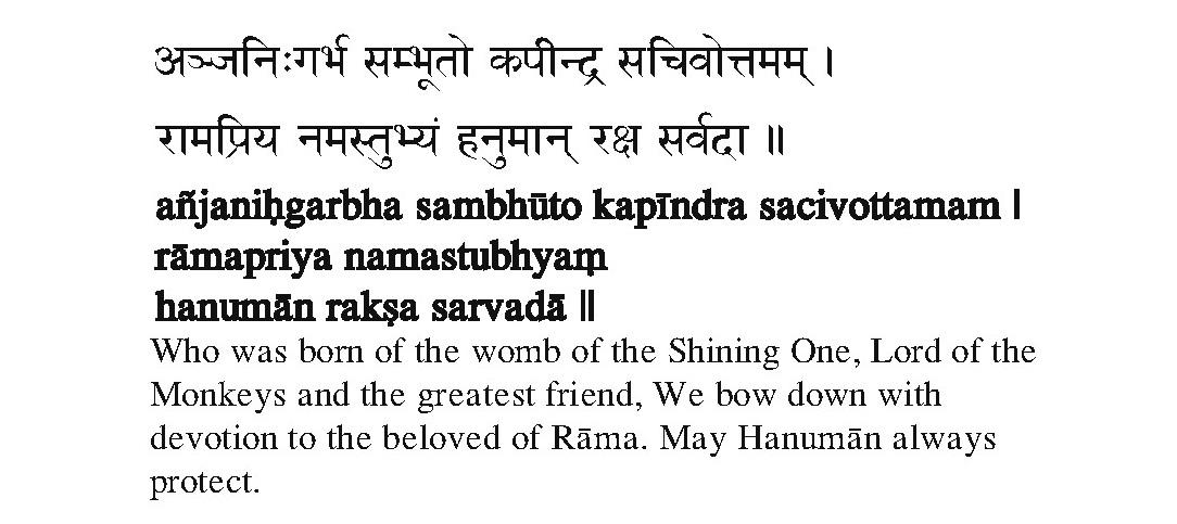 Hanuman Pranam Mantra