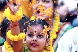 Bengali Girl Celebrating Holi