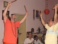 Swamiji dancing