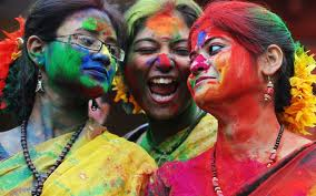 Three Friends During Holi