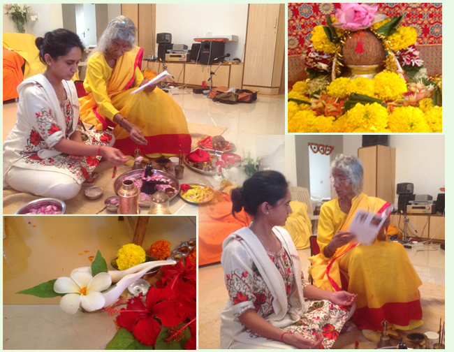 maa-teaching-puja-to-pooja