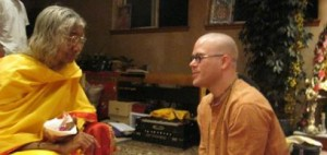 shree Maa with Devotee